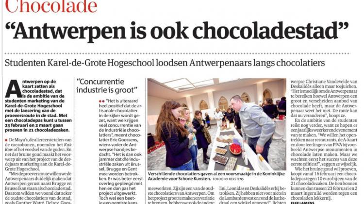 chocoladeroute Antwerpen
