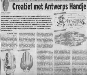 artikel in Het Laatste Nieuws, 7 januari 2014