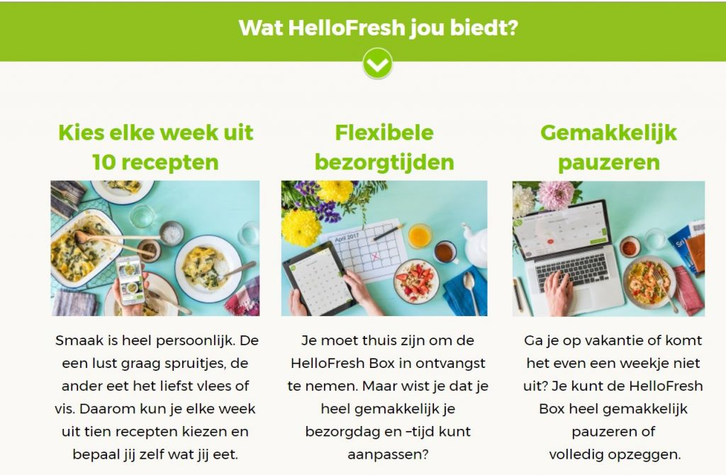 Hello Fresh marketing