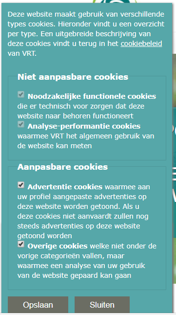 Cookies Sporza GDPR