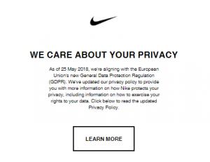 GDPR - Nike