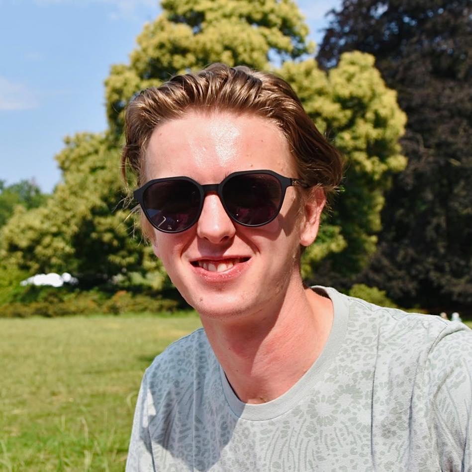 Nick Van den heuvel, student Marketing op de Karel de Grote Hogeschool in Antwerpen, België